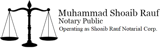 Notary Public in Surrey BC: Mohammad Shoaib Rauf Notary Public